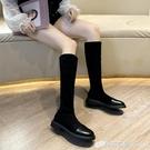 冬鞋女秋季時尚新款韓版小個子長筒靴150...