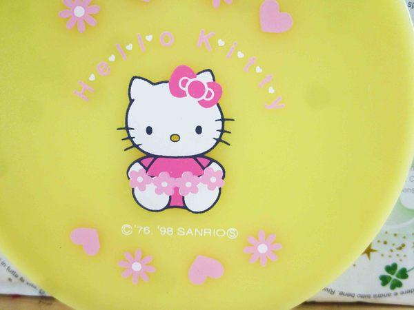 【震撼精品百貨】Hello Kitty 凱蒂貓-摺疊鏡-黃花園