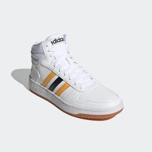 Adidas HOOPS 2.0 MID男款白色籃球鞋-NO.FW9347