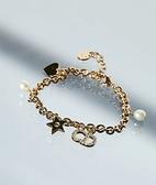 ■專櫃94折■ 全新真品■Dior 迪奧Clair D Lune 星星珍珠愛心裝飾手鏈