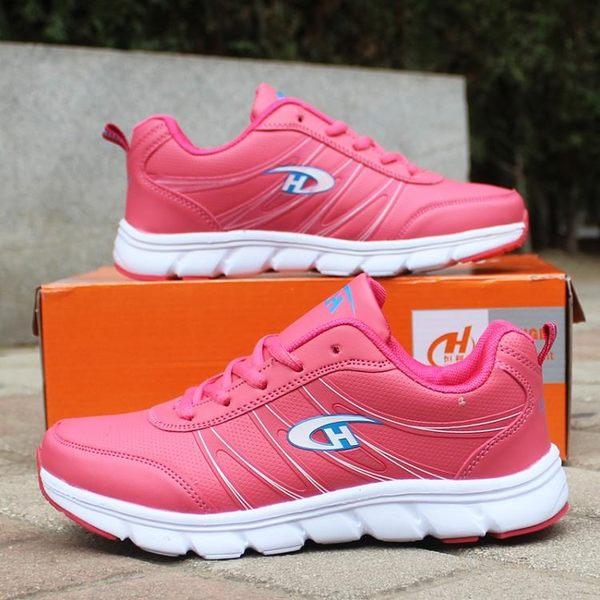 週年慶優惠-粉色運動鞋女鞋輕便運動鞋女青少年學生鞋女