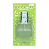 小禮堂 帕恰狗 造型透明吊飾保護套組 鑰匙收納套 鑰匙圈套 (3入 綠 演唱會粉絲收納) 4550337-00205