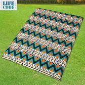 【LIFECODE】民族風-雙人自動充氣睡墊(厚7.5cm)-寬130cm