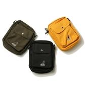 KANGOL 側背包 小口袋 黑 黃 軍綠 小包包 隨身包 男女 (布魯克林) 69553009-