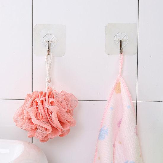 無痕掛勾 強力 不鏽鋼 免釘 壁掛 透明 浴室 廚房 收納 強力無痕黏貼掛鉤 【F055-1】 生活家精品