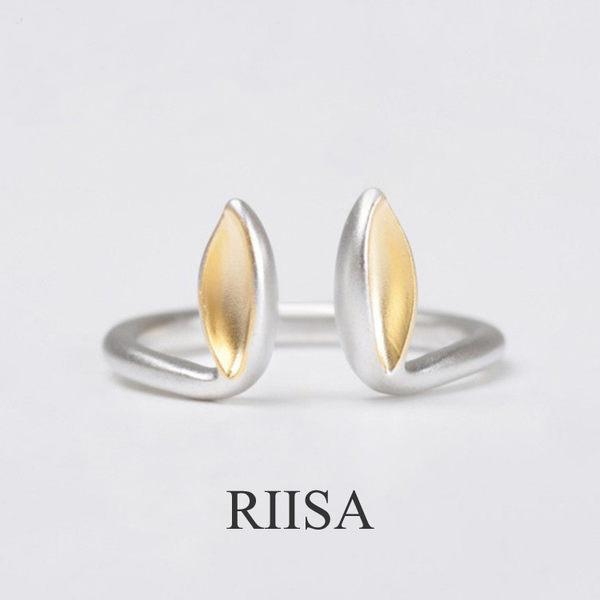 925純銀設計師原創立體兔耳開口戒指
