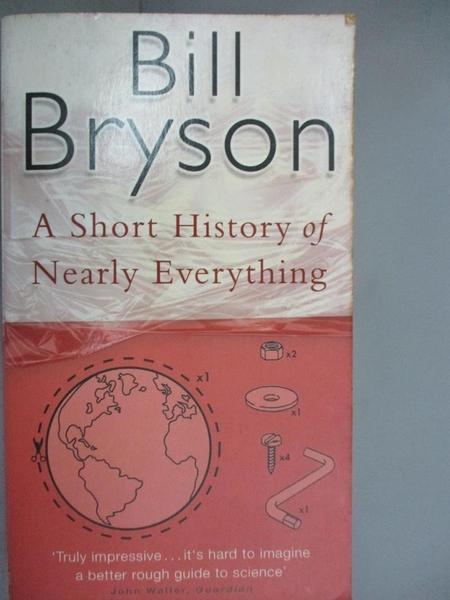 【書寶二手書T1/歷史_HEJ】A Short History of Nearly Everything_BRYSON, BILL