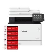 【搭CRG046原廠碳粉匣二黑三彩】Canon imageCLASS MF735Cx 彩色雷射多功能印表機