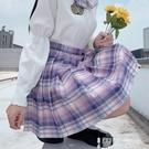 JK裙 日系格子jk制服裙正版短裙女半身裙 a字百摺學院風學生秋 蝴蝶結 智慧 618狂歡
