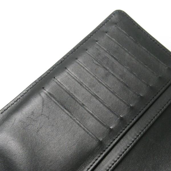CHANEL 香奈兒 黑色菱格雷射洞洞羊皮釦二折式長夾 【二手名牌BRAND OFF】