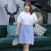 中大尺碼~後腰鬆緊雪紡半身裙(XL~4XL)