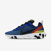 NIKE REACT ELEMENT 55 [BQ6166-403] 男鞋 慢跑 運動 輕量 透氣 舒適 避震 藍黑