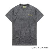 【GIORDANO】男裝運動系列吸濕排汗拼接款短袖T恤-21 花紗深灰
