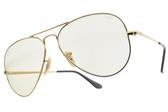 RAY BAN 太陽眼鏡 RB3689 001T2 (金-粉淡綠鏡片) 人氣飛官造型款 墨鏡 # 眼鏡品牌 # 金橘眼鏡