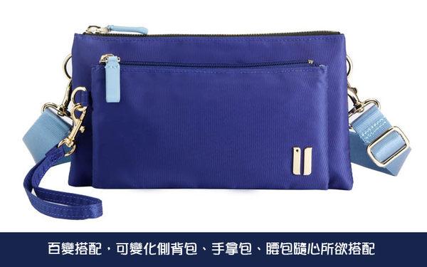 SUMDEX 輕旅三用手拿包/側肩包/腰包NOA-722TK柚木色