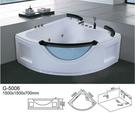【麗室衛浴】BATHTUB WORLD 扇形 人體工學設計款 按摩浴缸 G-5006 1500*1500*700mm