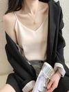 女背心 真絲吊帶女性感無袖上衣夏寬松外穿網紅西裝內搭打底小背心ins潮【快速出貨八折搶購】
