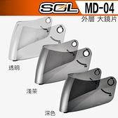 SOL 安全帽 MD04 MD-04 外層大鏡片 透明 淺茶 深色 23番 全罩 可掀式 可樂帽 原廠鏡片