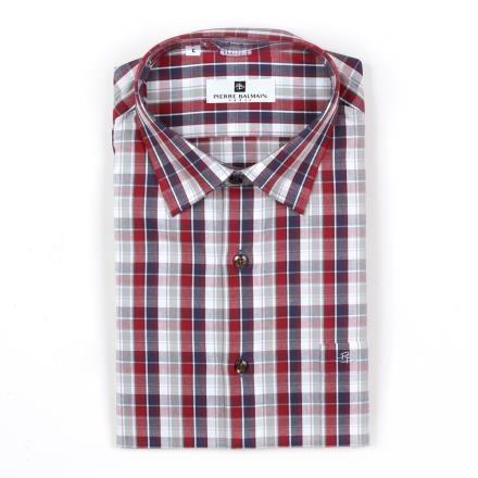 【南紡購物中心】【PIERRE BALMAIN 皮爾帕門】長袖襯衫-撞色紅格紋(F2)