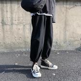 熱銷哈倫褲束腳褲男秋冬寬鬆闊腿百搭褲子男ins潮牌潮流工裝哈倫褲港風