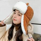 雷鋒帽女加厚百搭貓耳朵款韓版秋冬季保暖棉帽【少女顏究院】