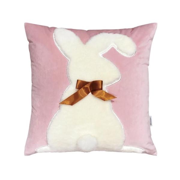 公主灰粉色少女心兔抱枕 ins風超柔絨毛毛亮片抱枕套沙髮靠墊靠枕歐歐
