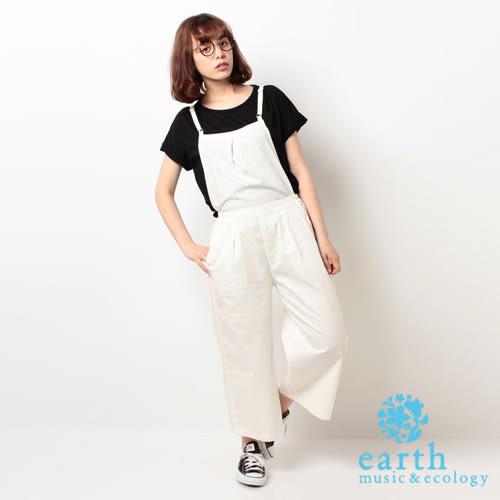 ❖ Hot item ❖ 素色吊帶連身褲(米黃色) - earth music&ecology