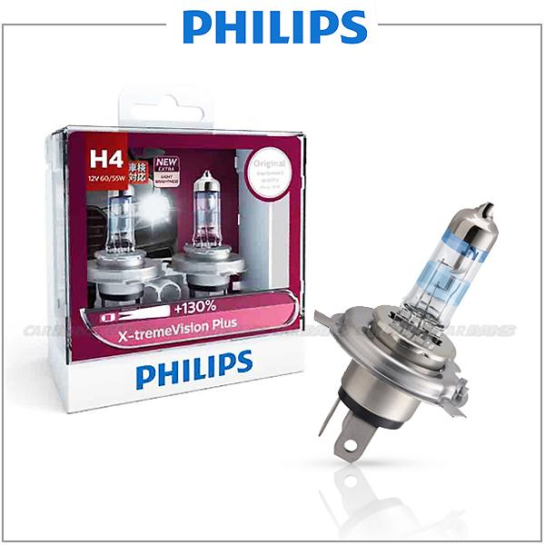【愛車族】PHILIPS 飛利浦夜勁光 H4-12V-60/55W 3700K 加亮130% 汽車大燈燈泡