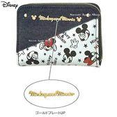 日本限定 迪士尼 米奇&米妮 丹寧星星 零錢包 / 卡夾包 / 信用卡夾包 / 證件卡夾包
