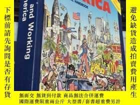 二手書博民逛書店Living罕見and Working in AMERICA:A