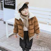 兒童金絲絨棉衣男童女童冬裝棉襖寶寶短款外套中小童嬰幼加厚棉服『CR水晶鞋坊』