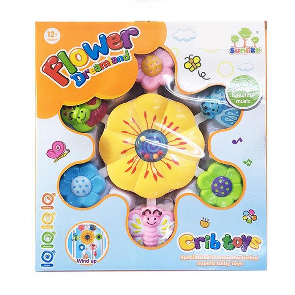 【GCT玩具嚴選】寶寶音樂花床鈴 床鈴 安撫玩具 音樂旋轉 嬰幼兒玩具