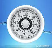 家用船用大號指南針防震防水可接12V電發光發亮磁羅經羅盤羅庚 溫暖享家
