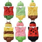 短袖包屁衣 夏款水果造型含帽子連身衣兔裝 S51026