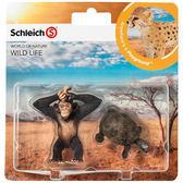 Schleich 史萊奇動物模型史萊奇動物模型 小猩猩 & 烏龜_SH21040
