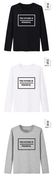 情侶裝 純棉長T MIT台灣製【YL0243】長袖-THE FUTURE 班服 團體服 艾咪e鋪 24小時快速出貨