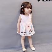 0一1-2-3歲女寶寶女童洋裝純棉嬰兒裙子2021針織小童公主童裝女 幸福第一站