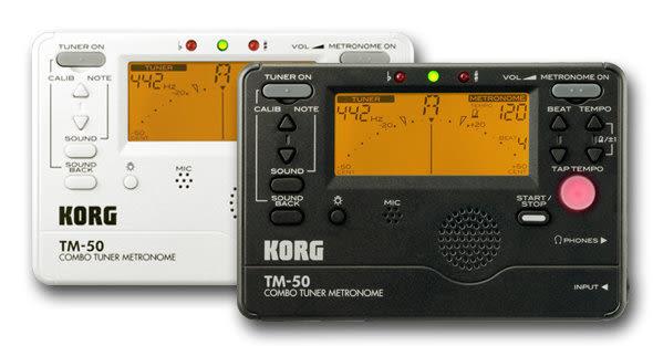 【金聲樂器】 全新 KORG TM-50 調音+節拍器 黑色 白色
