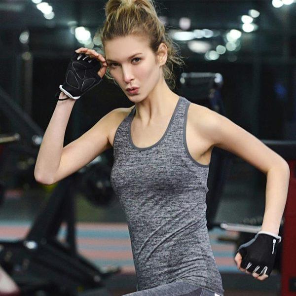 【狐狸跑跑】高彈力瑜伽上衣 快乾運動背心 WA19
