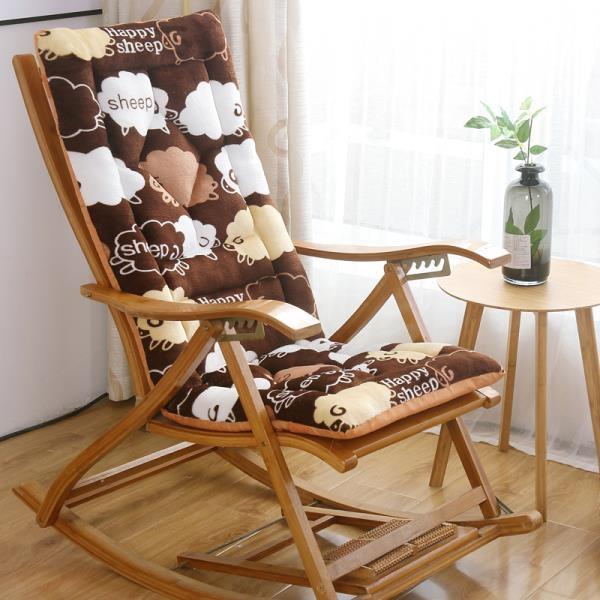 冬季毛絨躺椅墊子加厚折疊椅墊藤椅墊搖椅墊通用轉靠背長椅子坐墊