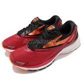 BROOKS 慢跑鞋 Launch 4 發射系列 四代 紅 橘 DNA動態避震 男鞋 運動鞋【PUMP306】 1102441D611