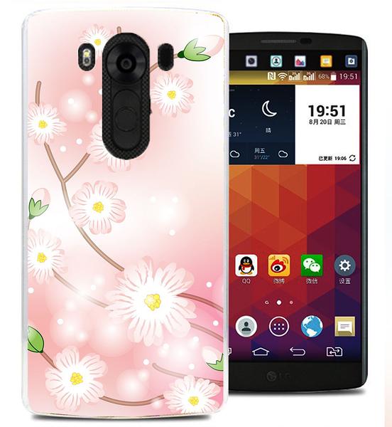 ✿ 俏魔女美人館✿ 【櫻花*水晶硬殼】LG v10手機殼 手機套 保護套 保護殼