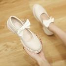 粗跟鞋 仙女粗跟溫柔鞋子女2021年新款春夏季女鞋百搭淺口單鞋仙女小皮鞋
