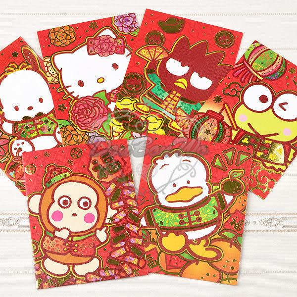 kitty大眼蛙酷企鵝帕洽貝克淘氣紅底棉襖款新年紅包袋8入組迷你922855通販屋
