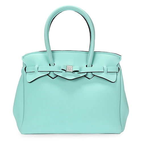 SAVE MY BAG Miss系列簡約輕量防水托特包(湖水綠)280001-8