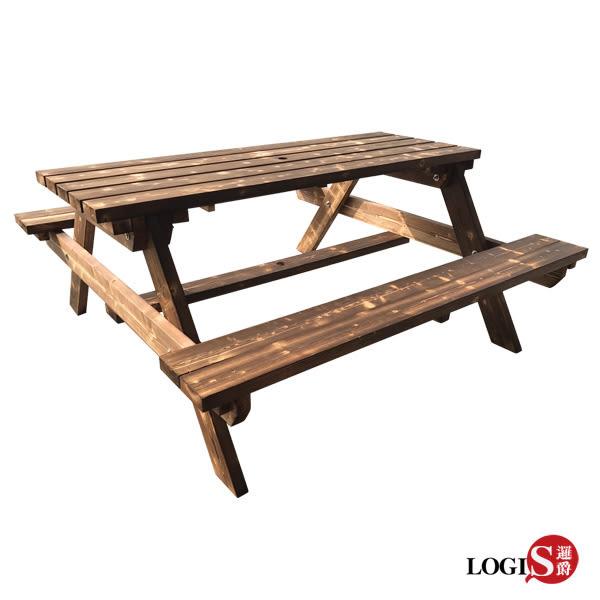 LOGIS-多用原木庭園桌椅 啤酒桌 戶外桌椅 烤肉桌 BBQ 露營桌【12BEER】