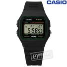CASIO / F-91W-3DG / 卡西歐方型復刻回歸計時電子橡膠手錶 黑色 32mm