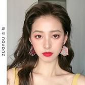 耳環 2019新款潮流女耳環波板糖氣質純銀耳墜高級感網紅耳飾耳夾R906