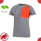 【MAMMUT 長毛象 男 Crashiano Pocket T-Shirt 短袖T恤《灰/鋅紅》】1017-00920/運動衣