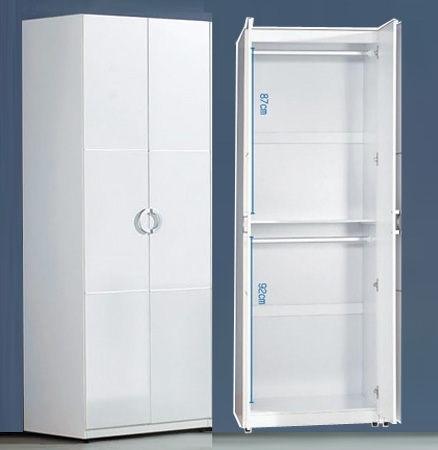 凱倫2.3尺白色雙吊衣櫃(18JF/068-1)【DD House】